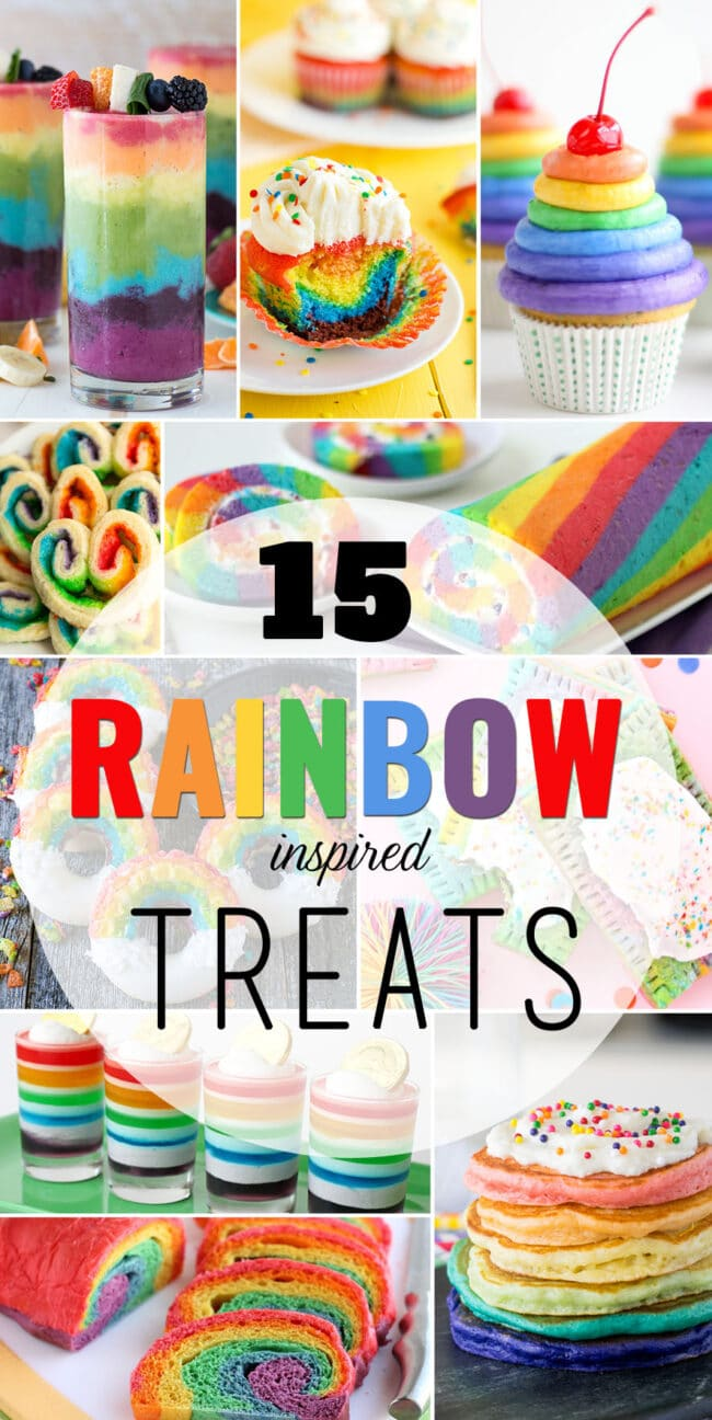 15 Rainbow Inspired Treats