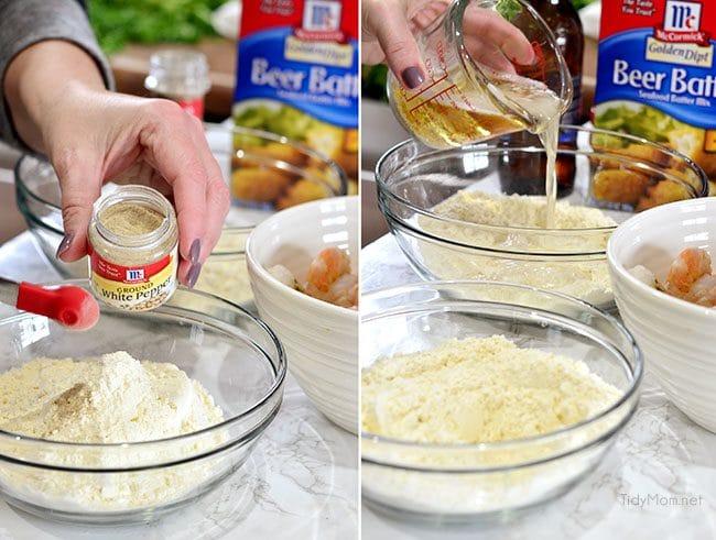 Beer Battered Buffalo Shrimp Sliders recipe at TidyMom.net