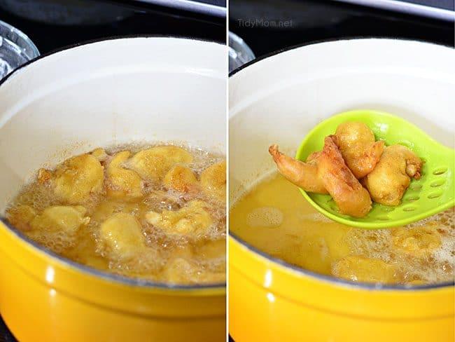 Beer Battered Fried Shrimp for Beer Battered Buffalo Shrimp Sliders recipe at TidyMom.net
