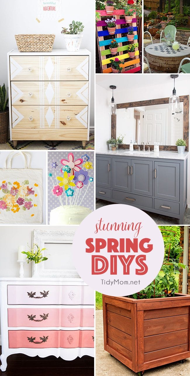 Stunning Spring DIYs that you can easily make! From a fire pit cover and game table to a rainbow pallet garden and so much more!