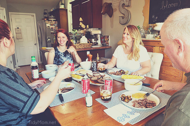 Coca-Cola is always apart of our family dinner table.
