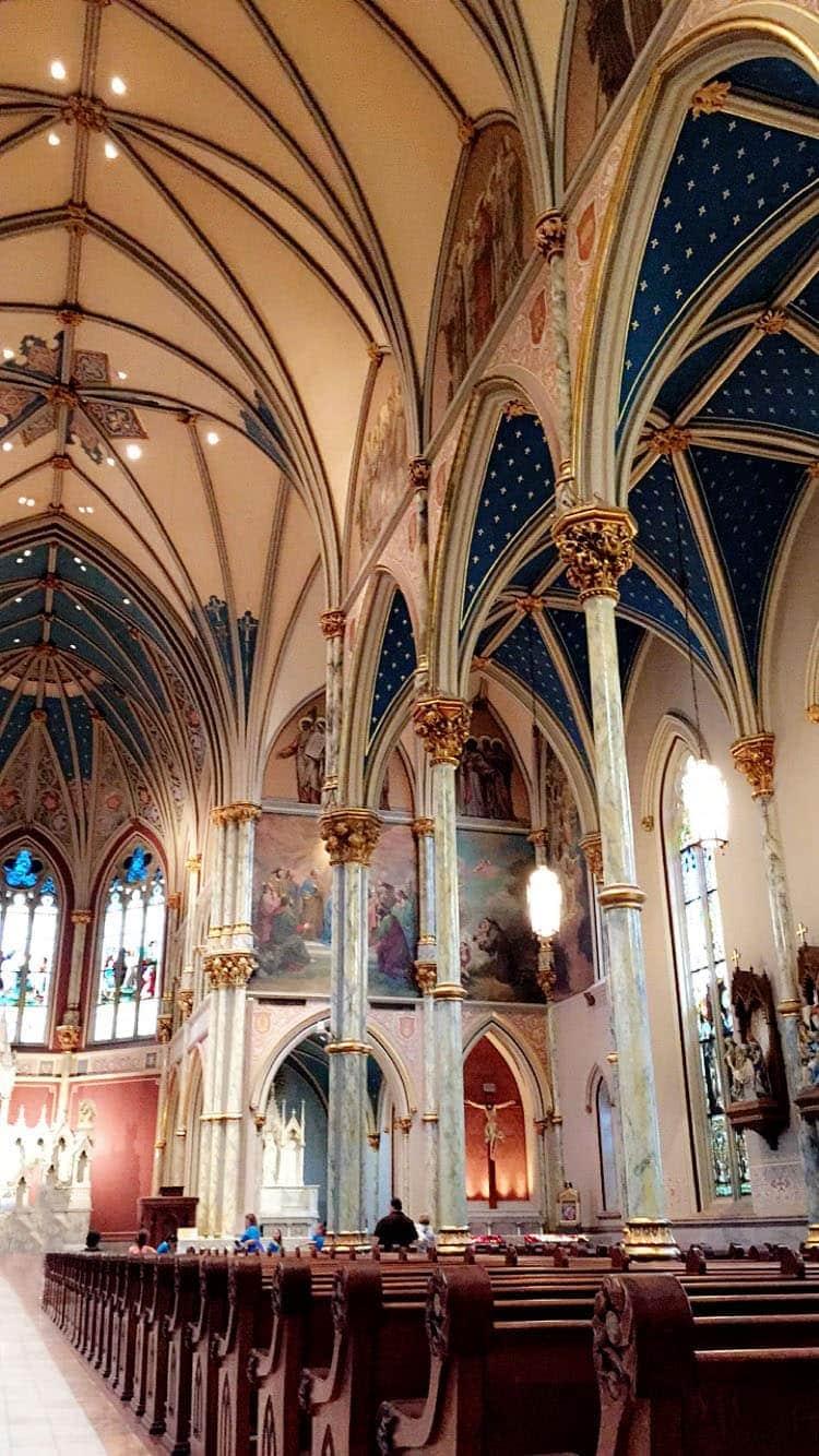 Inside Cathedral of St. John the Baptist in Savannah, Georgia. More Savannah Sightseeing at TidyMom.net