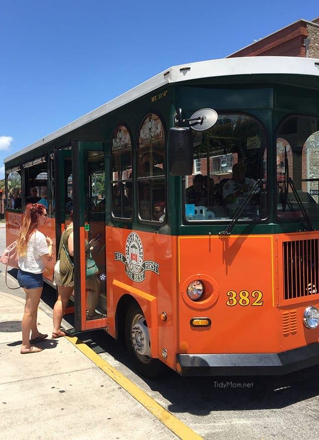 Old Towne Trolley Tours Savannah GA . More Savannah Sightseeing at TidyMom.net