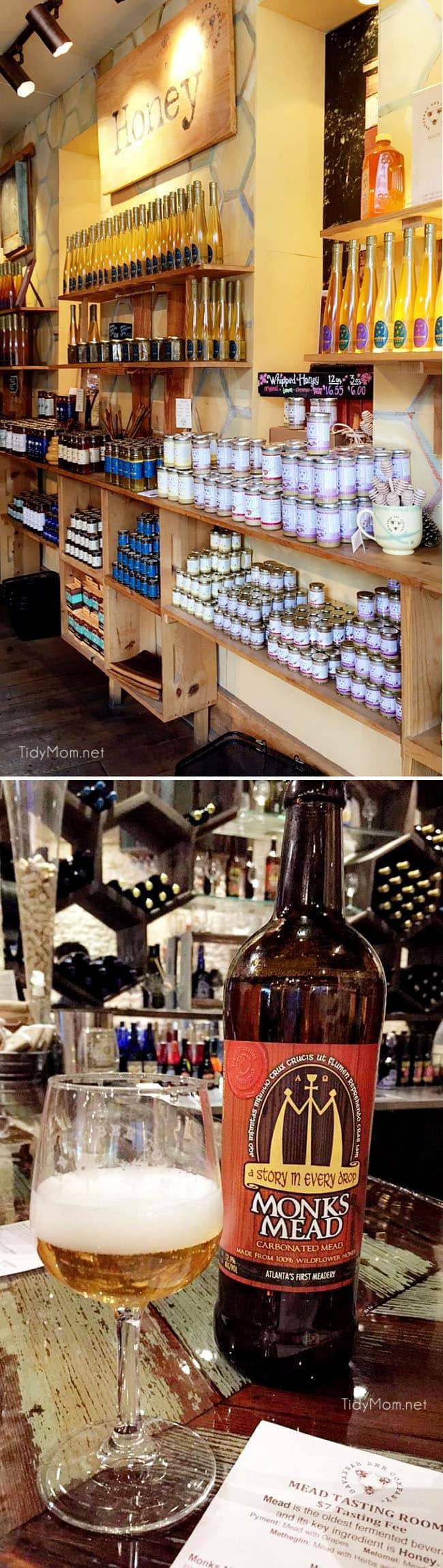 Mead Tasting at Savannah Bee Company. More Savannah travel, eats and sightseeing at TidyMom.net