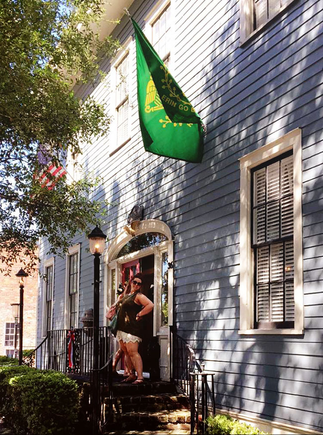 SouthernBelle Vacation Rentals - The Champagne Suite in Historic Savannah, just a few blocks from River Street .