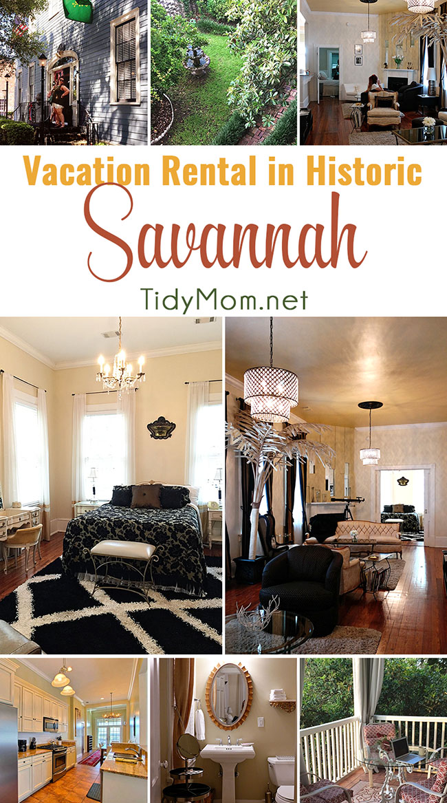 SouthernBelle Vacation Rentals - The Champagne Suite in Historic Savannah, just a few blocks from the river.