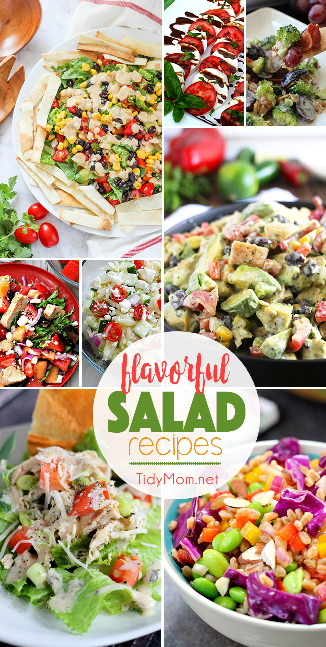 Flavorful salad recipes tidymom - Salads can grow pots eat fresh ...