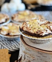 close up of a Mini S'more Pie