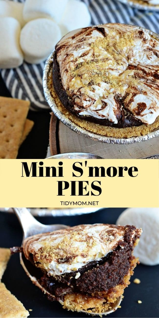 mini s'more pie with marshmallows