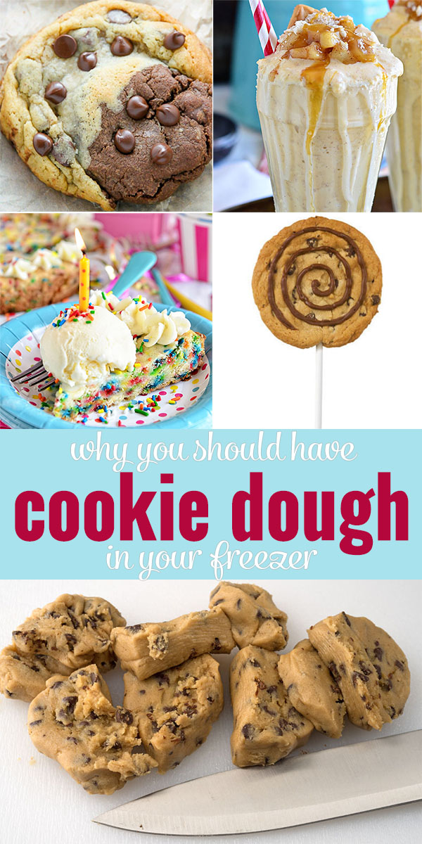 Why you should have cookie dough in your freezer! You can make SO much more than cookies with that dough!