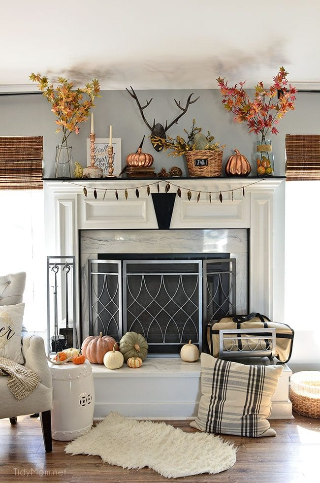 My Fall Mantel With Touches Of Copper Tidymom 174