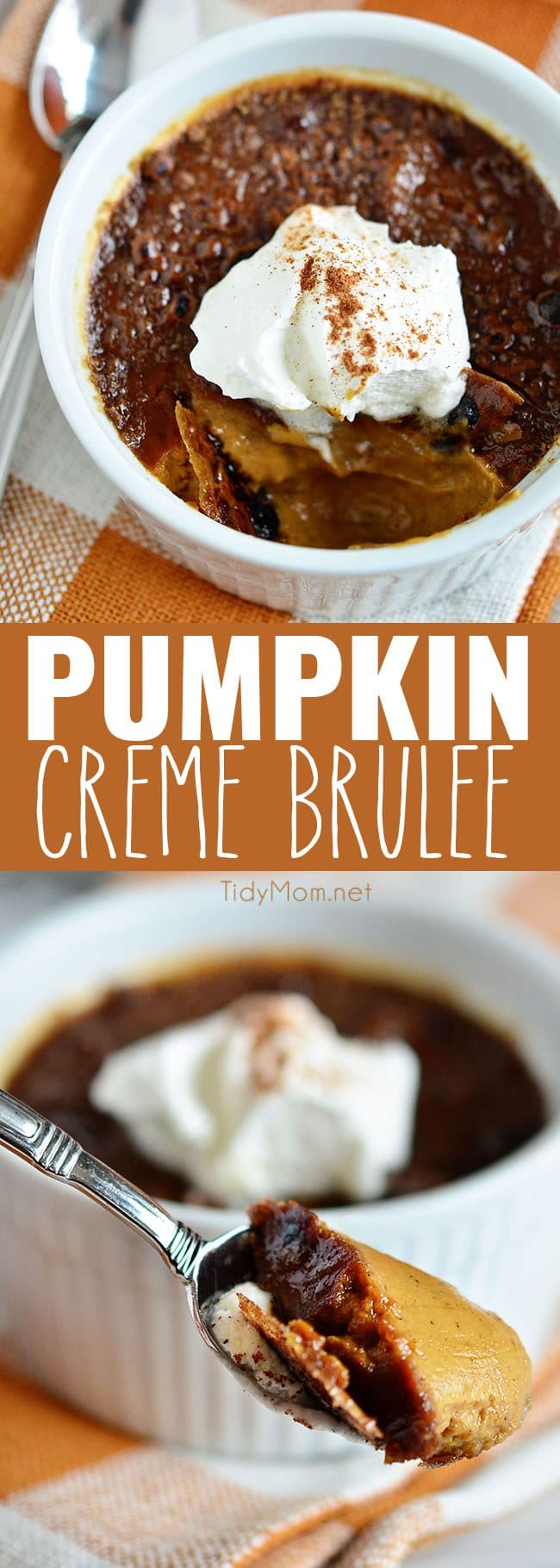 Pumpkin Crème Brûlée photo collage