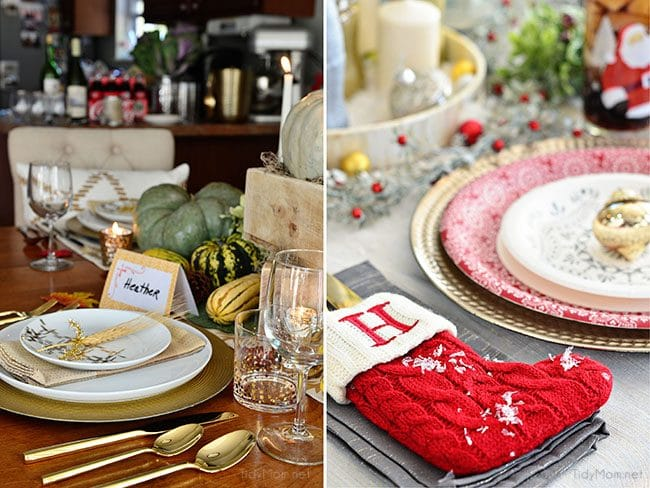 Holiday Entertaining Tips - tablescapes. at TidyMom.net