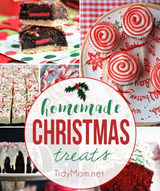 25+ of the best homemade Christmas treats and dessert recipes plus over 200 Christmas ideas at TidyMom.net