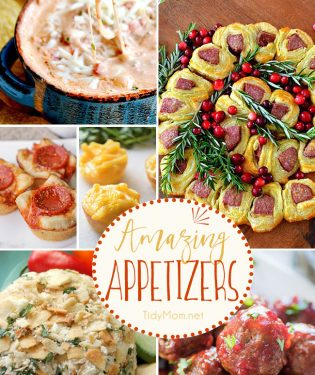 Amazing appetizers perfect for any occasion. Get the recipes at TidyMom.net