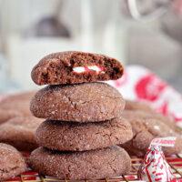 Peppermint Surprise Crinkle Cookies
