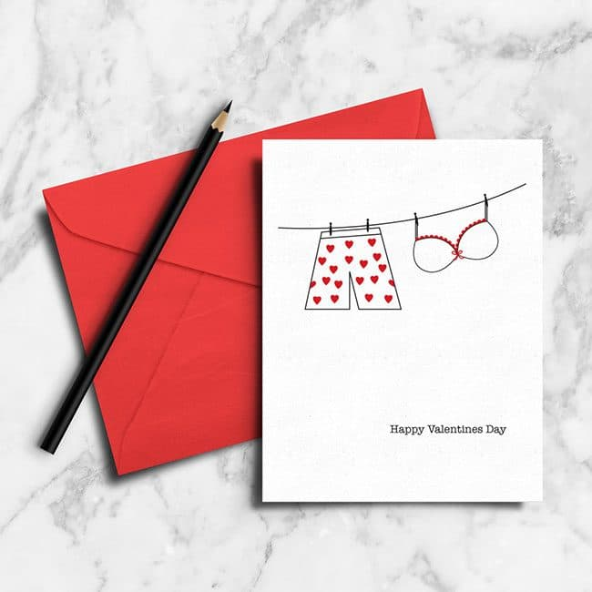 Free Printable Valentine's Day Card perfect for a Valentine's Day Dinner Meal Plan