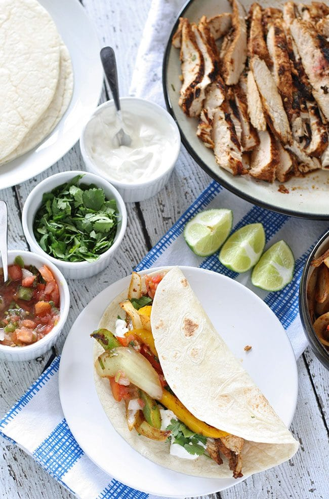 Game Day Party Plan Chicken Fajitas
