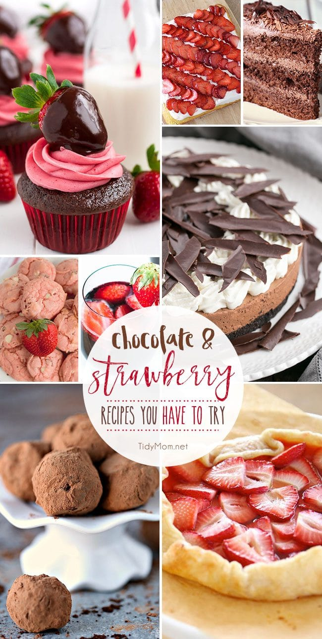 When you need a dessert that is sure to impress, you can't go wrong with Chocolate and Strawberry recipes. Together or all on their own, they're always a hit from cupcakes and truffles, to tarts, cakes, cookies and more! Get 8 Chocolate and Strawberry Recipes you have to try at TidyMom.net