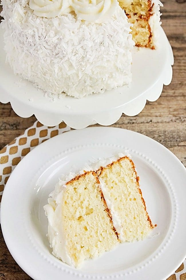 Coconut Layer Cake | Easter Dinner Meal Plan recipes, printables and decor ideas. Details at TidyMom.net