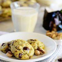 Pistachio Cookies with Dark Chocolate and Sea Salt