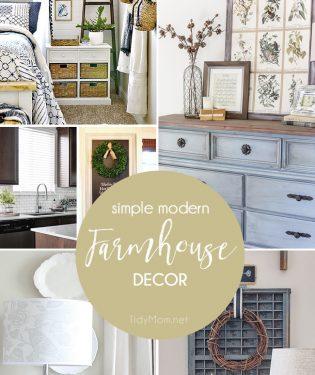 Simple Modern Farmhouse Decor at TidyMom.net
