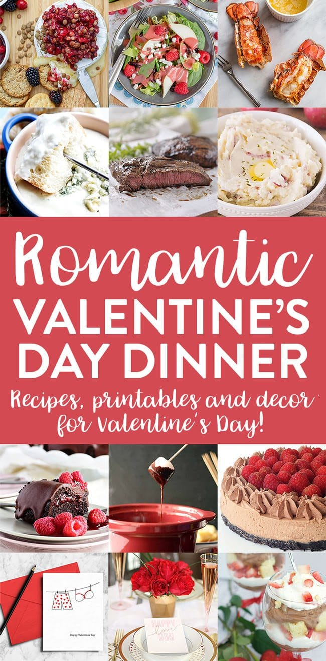 Valentines Day Meal Plan from appetizer to dessert recipes, to printables and decor for a Valentine's Day Dinner. Get all the recipes and details at TidyMom.net