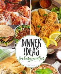 Dinner Recipes for Busy Families at TidyMom.net