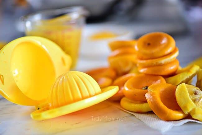 squeezed Meyer lemons