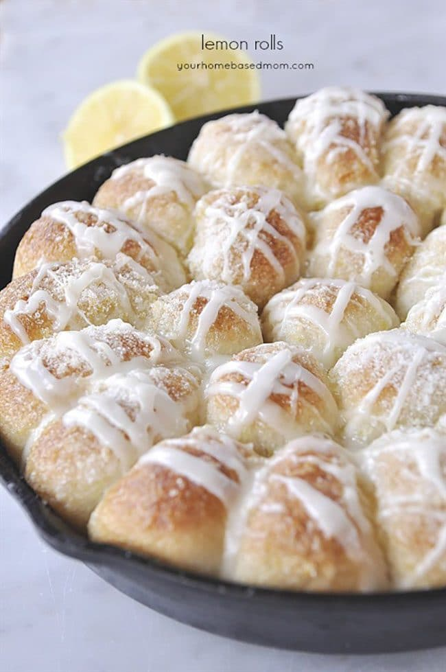 Mother's Day Brunch Meal Plan recipes, printables and decor at TidyMom.net - Lemon Rolls Recipe