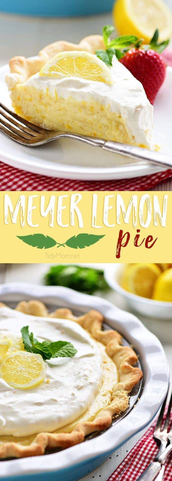 Meyer Lemon Pie photo collage