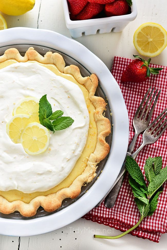 a whole Meyer Lemon Pie