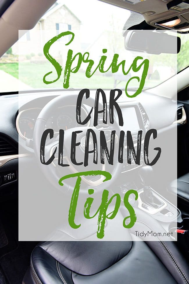 It's time to spring clean the car.  The winter months can wreak havoc on your car's exterior and interior. The change of season is the perfect time to detail your car, from top to bottom! Spring Car Cleaning Tips at TidyMom.net
