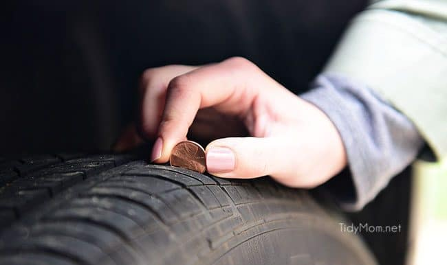 It's time to spring clean the car.  The winter months can wreak havoc on your car's exterior and interior. The change of season is the perfect time to detail your car, from top to bottom! Spring Car Cleaning Tips at TidyMom.net Use a penny to check your tire treads