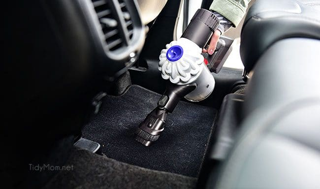 It's time to spring clean the car.  The winter months can wreak havoc on your car's exterior and interior. The change of season is the perfect time to detail your car, from top to bottom! Spring Car Cleaning - vacuuming