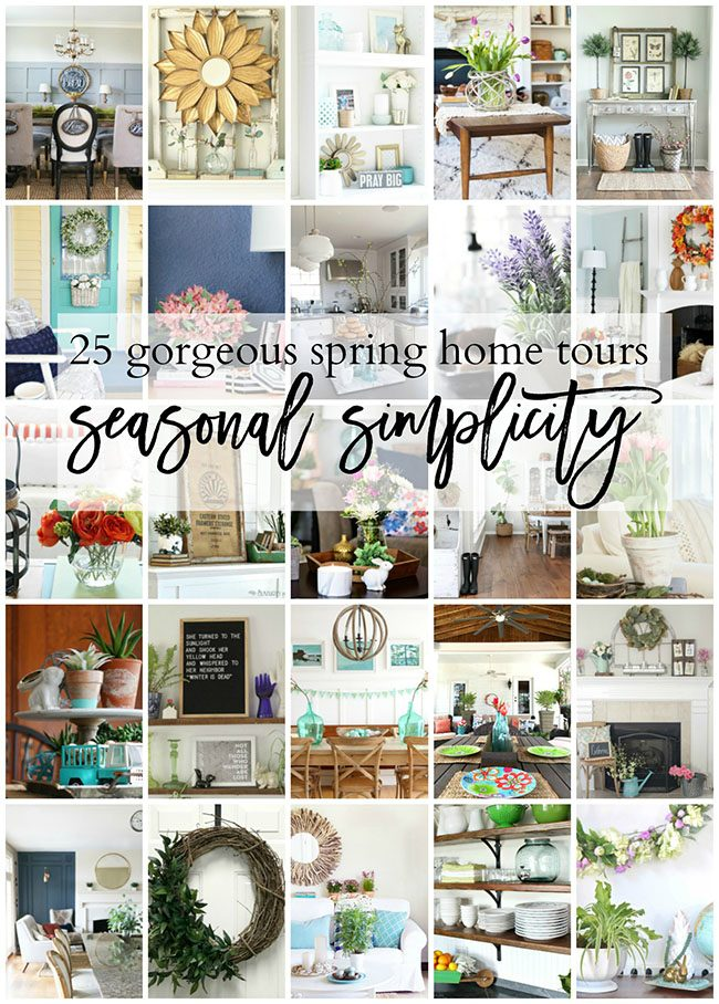 25 Gorgeous Spring Home Tours | Seasonal Simplicity at TidyMom.net