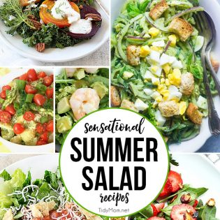 Sensational Summer Salad Recipes collage