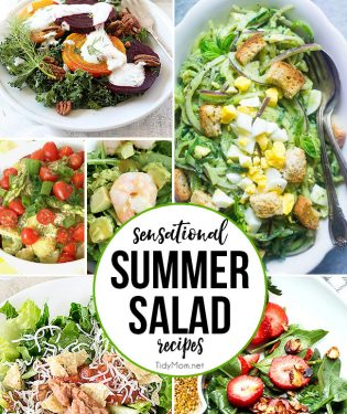 Sensational Summer Salad Recipes at TidyMom.net