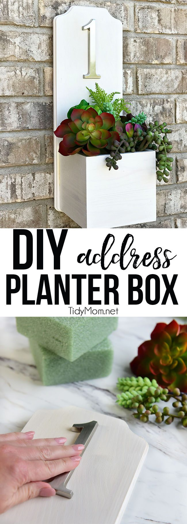 address planter box with house number