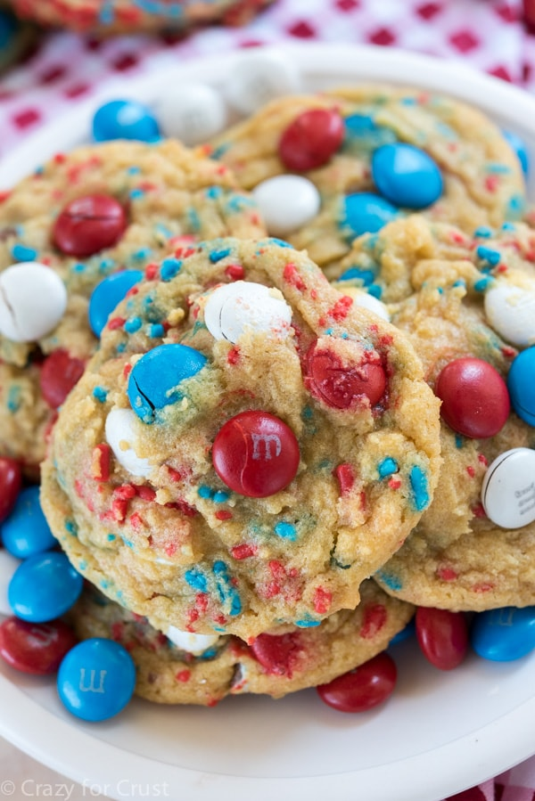 FIREWORKS PUDDING COOKIES from Crazy for Crust