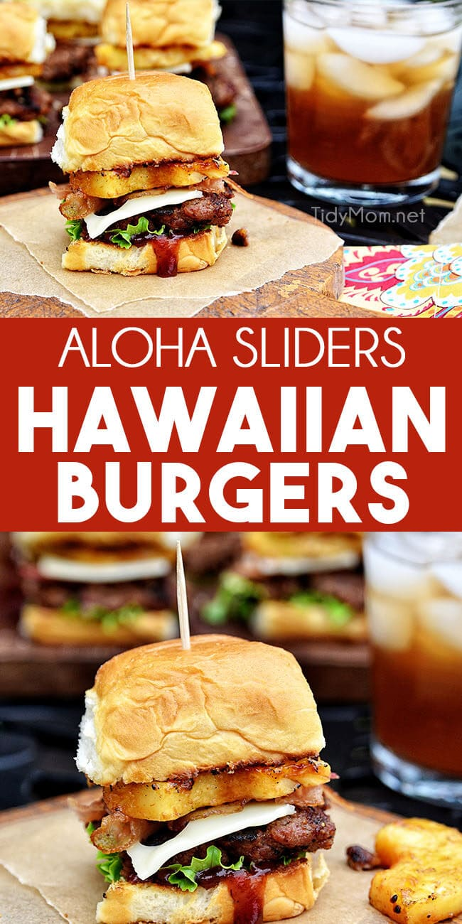 Hawaiian burger aloha photo collage