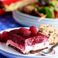 No-Bake Raspberry Cheesecake with Cookie Crust