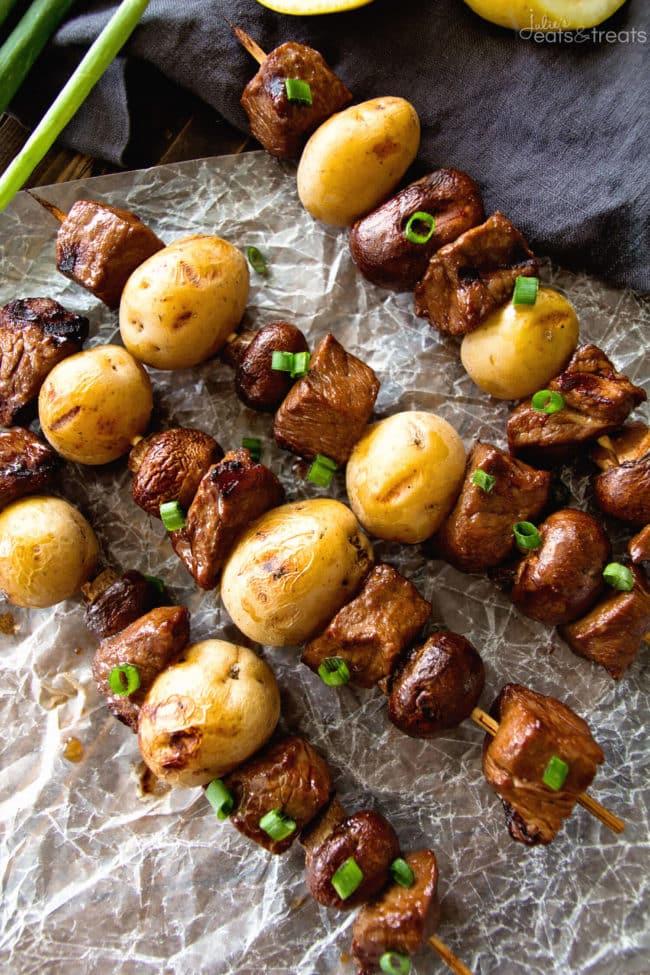 STEAK & POTATO KABOBS from Julie's Eats & Treats
