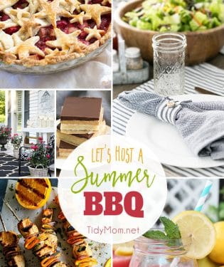 Let's host a Summer BBQ. Get tips on how to clean outdoor furniture to party ideas and of course, favorite summer BBQ recipes Find all the details at TidyMom.net