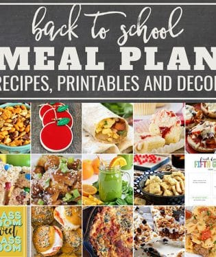 Find crafts, printables, recipes and more for a Back to School Meal Plan at TidyMom.net