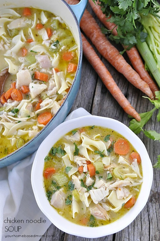 Best Comfort Food Meal Plan. Chicken Noodle Soup from Your Homebased Mom. Get More meal plan recipes, printable and decor at TidyMom.net