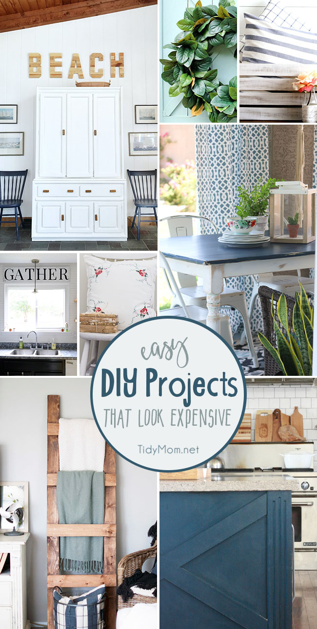 Easy DIY projects that look expensive at TidyMom.net