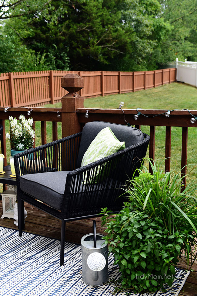 Learn How to Decorate a Small Deck or Patio and what kind of plants to use to keep mosquitos and other pesks away. Get all the details at TidyMom.net