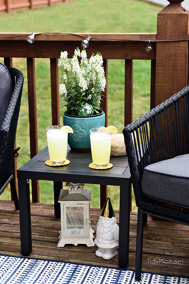 Learn How to Decorate a Small Deck or Patio at TidyMom.net