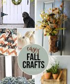 Easy Fall Crafts anyone can make!! All the details at TidyMom.net